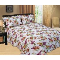 China Durable Country Style Printed Quilt Set Hand Wash Natural Cotton Fabrics on sale