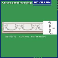 Buy Polyurethane carving wall Mouldings/ Chair rails/ white primed color customized at wholesale prices