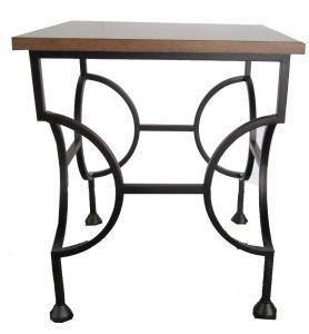 Laminate Top With Black Powder Coat Finish Metal Side Table,metal End  Table/metal Coffee Table For Hotel Furniture