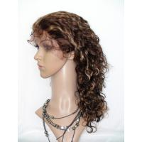 Quality Promotion 100% Human Hair Wig Brown Deep Curly Woman Full Lace Wig for sale