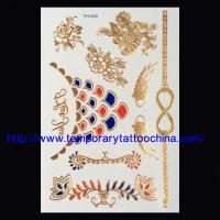 Quality Hot sale 3D gold stamping temporary tattoo sticker metallic tattoo for sale