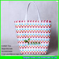 85320c90db Buy LUDA summer woven beach bag colorful pp strap straw tote bag at  wholesale prices