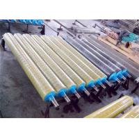 Quality Smooth Surface Rubber Coated Conveyor Rollers , Industrial Rubber Rollers No Swelling for sale