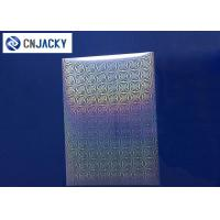 Clear Smart Card Material Overlay PVC Holographic Film For ID Cards / VIP Card