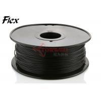 Buy cheap Makerbot black Flexible Filament 1.75mm / 3.0mm NinjaFlex , ROHS approval from wholesalers