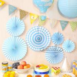 Quality Candy Color Paper Fan Suit  Wedding Dessert Table Decorations for sale
