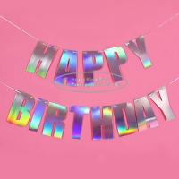Buy 3m 4m 5m 6m Laser Paper Letter Garland For Birthday Decoration at wholesale prices