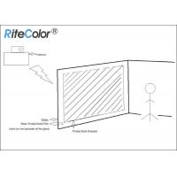 Quality 3D Holographic Rear Projector Film Adhesive Grey For Glass for sale