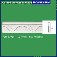 Buy Polyurethane Carved wall mouldings/ chair rails/ white primed color customized at wholesale prices