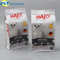 Quality Aluminium Foil Resealable Food Pouches , Beautiful Pattern Dog Food Bag for sale