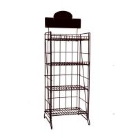 Quality Custom 4 Tier Stainless Steel Retail Display Rack With Chrome / Zinc Plating for sale