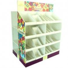Quality 4 Colors CMYK Printing PDQ Floor POP Quarter Cardboard Counter Displays for sale