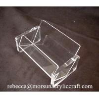 Quality Simple Transparent Business Name Card Holder Acrylic Display Case for sale