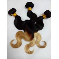 Quality Top Quality 10inch to 30 inch 100% Human Hair  Ombre Body Wave Hair Weave for sale