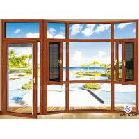 Quality Heat Insulation 6063-T5 Aluminium Windows And Doors With Stainless Steel Security Mesh for sale