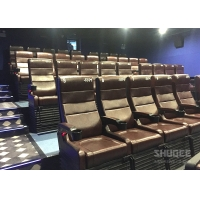 Buy cheap 4 Seats Black PU leather 4D Cinema Motion Chair Pneumatic / Electronic for Home from wholesalers