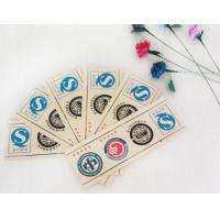 Buy Printed Logo Waterproof Adhesive Sticker Labels Coated Paper With Roll / Sheet Shape at wholesale prices