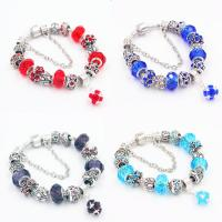 Quality 925 sterling silver multi-color bead bracelet with charms for gifts for sale