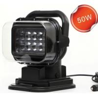 Quality 360 Degree Remote Control Led Search Light Marine Led Truck Work Lights 50w LED search Driving Light for sale