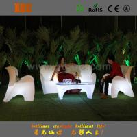 Green White Purple Outside LED Lighted Event Sofa With Rechargeable Battery
