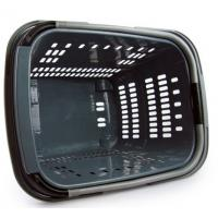 Quality Plastic Rolling Shopping Basket For Store , 4 Wheeled Shopping Trolleys On Wheels for sale
