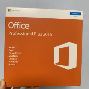 Quality Office 2016 Professional Plus Retail Key Retail DVD or No DVD 32 Bit 64 Bit for sale