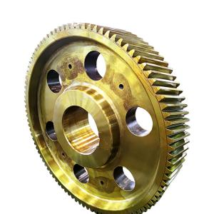 China forging carbon steel ring gear wheel carburizing steel spur gear on sale