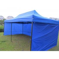 Quality Fireproof Polyester Pop Up Gazebo Tent Half - Wall Side With PVC Windows for sale