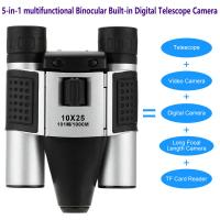 DT08 Binocular Built-in Digital Telescope Camera Far Shoot 1.3MP Video Recorder 10x25 101M/1000M outdoor camping hiking