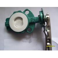 Quality 40 ~ 300mm PTFE Lining Butterfly Valve, Forged Steel Valves for sale