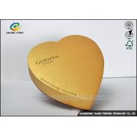 Quality Handmade High Grade Cardboard Chocolate Boxes , Food Gift Boxes Heart Shaped for sale