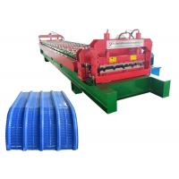 Quality Hydraulic drive high speed sheet metal roll forming machine with Cr12 cutter for sale