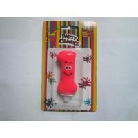 China Cute Number One Birthday Candle Rose Red , Craft Digit Number Cake Candles on sale