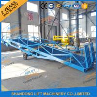 Quality 6T-15T Adjustable Warehouse Loading Ramp Mobile Container Yard Ramp CE SGS TUV for sale