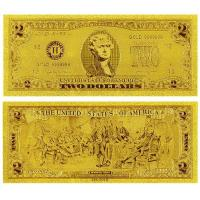 China United of America $2 Gold Dollar Bill Collection Banknote on sale