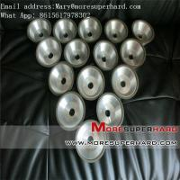 Quality 11v9 tapered flaring cup diamond/CBN grinding wheel for grooving Mary@moresuperhard.com for sale
