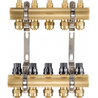 Quality 6101 Polished Brass Water Distribution Manifolds w/ anti-sediment sealing bases and Supply Flowrate Regulating Top Sets for sale