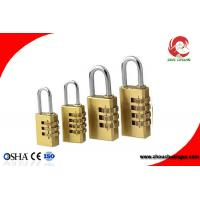 Buy High Quality Brass 3 Digital Number Wheel Combination Padlock at wholesale prices