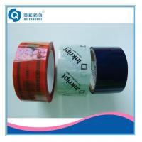 Quality Custom Printed Packing Tape , White / Blue Tamper Evident Security Tape for sale