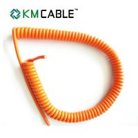 Quality Shielded Power Spiral Flexible Cable Outdoor 2 Wire PVC Insulation CE Certificate for sale