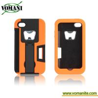 Quality PC+silicone case for iphone4/4s, with bottle opener style for sale