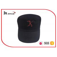 China 10856 cotton twill baseball caps hats / military cap with silver metal adjuster on sale