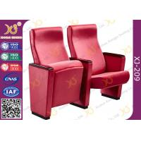 Buy cheap Full Upholstered Fabric Cover Auditorium Chairs / Seating With Hidden Fixed Leg from Wholesalers