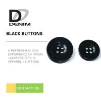 Quality Bulk Flat Black Sewing Buttons • 4 holes • Plaid blazer • Clothing Accessories for sale