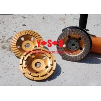Quality Double Row Diamond Grinding Cup Wheel for grinding concrete / 7 inch diameter for sale