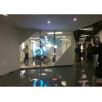 Quality High Refresh RGB Glass Wall LED Screen Pitch 4.8mm With High Transparency for sale
