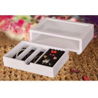 Buy Cute White Wooden Jewelry Organizer Box , Customized Jewelry Gift Boxes at wholesale prices