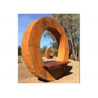 Quality Outdoor Bench Design Corten Steel Sculptures For Park Decoration for sale