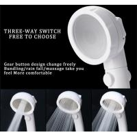 Quality JK-2801 white color massage handheld showerheads high water pressure saving water three settings shower for sale