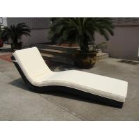 Quality Modern Luxury Comfortable Wicker Rattan Sun Lounger For Poolside for sale